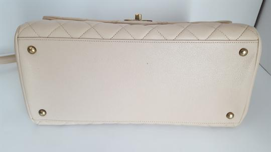 Chanel Trapezio Shoulder Satchel in Beige Image 9