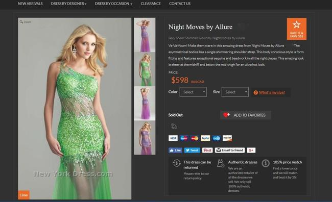 Night Moves Prom Collection Dress Image 5