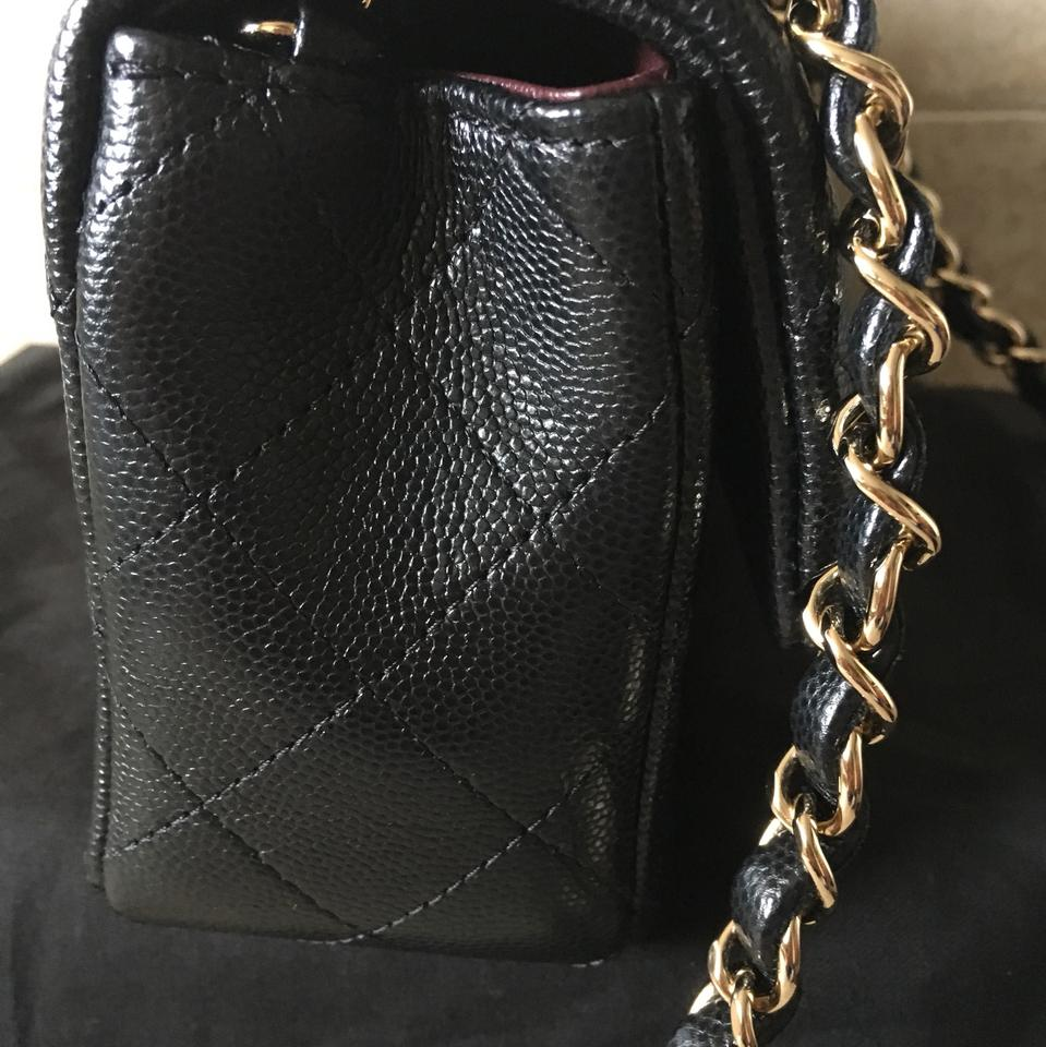 517fcbc5eb8c69 Chanel Classic Flap Rare 17b Mini Caviar Light Gold Hw Woc Sold Out Black  Leather Cross Body Bag - Tradesy