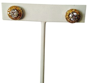 White & Yellow Diamonds (Lab Created) Stud Earrings, 3.92 cts