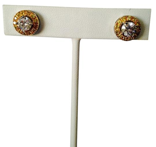 Other White & Yellow Diamonds (Lab Created) Stud Earrings, 3.92 cts