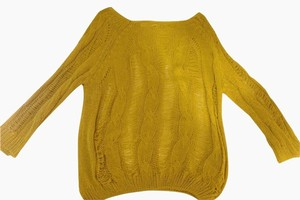 Blu Pepper Yellow Green Sheer Loose Sweater
