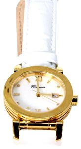 Salvatore Ferragamo Salvatore Ferragamo Women's Mother of Pearl Dial Gold Plated Watch