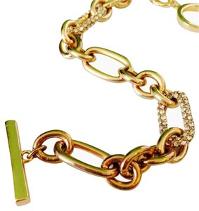 Anne Klein Gold-Tone & Crystal Multi Shaped Link Bracelet