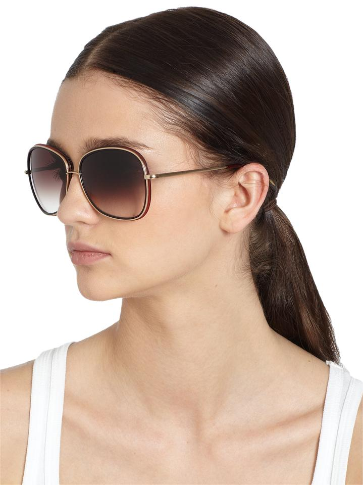 4e96788c0a Oliver Peoples Wine Women s Emely Oversized Square Frame - Brown Sunglasses