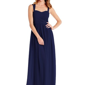 Donna Morgan Navy Chiffon Bailey Formal Bridesmaid/Mob Dress Size 6 (S)