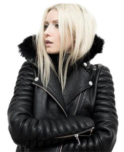 The Arrivals Leather Moto Black Jacket