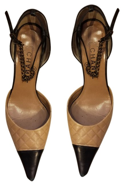 Item - Black and Light Brown Pointed Toe Formal Shoes Size US 7.5 Regular (M, B)