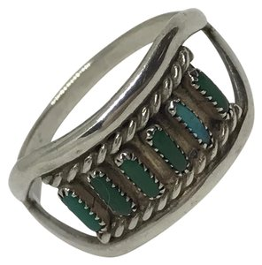 Native American Turquoise & Sterling Artisan Ring