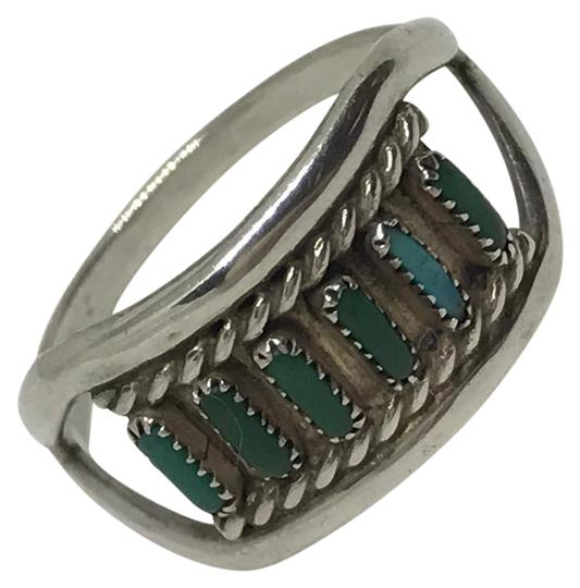 Native American Turquoise & Sterling Artisan Ring Image 0