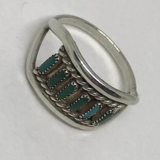 Native American Turquoise & Sterling Artisan Ring Image 3