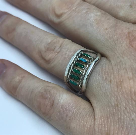 Native American Turquoise & Sterling Artisan Ring Image 4
