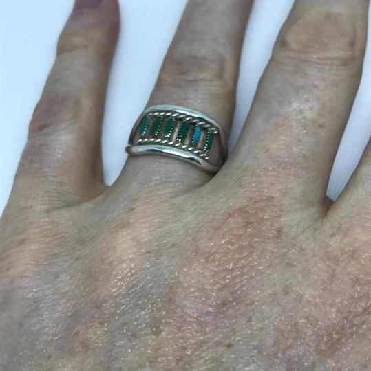 Native American Turquoise & Sterling Artisan Ring Image 5