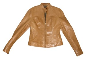American Base Geniune Leather Tan Leather Jacket