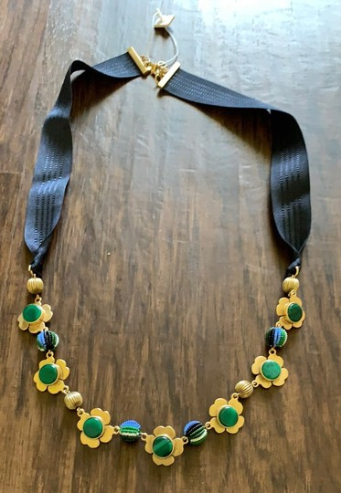 Ann Taylor pleated floral ribbon necklace Image 6