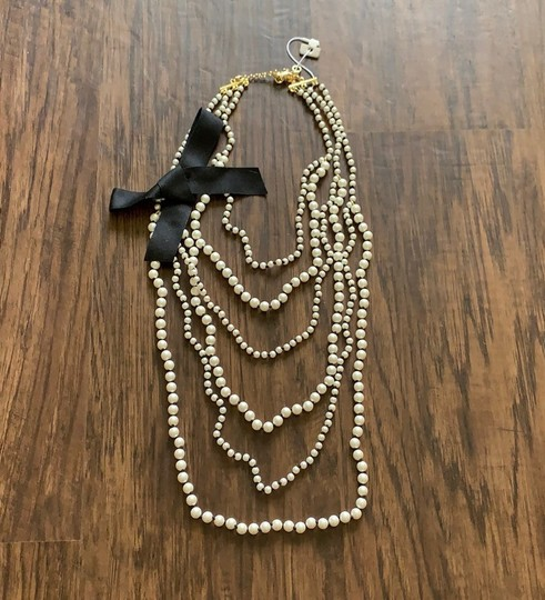 Ann Taylor knotted pearlized tie necklace Image 5