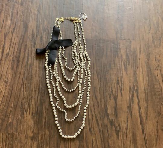 Ann Taylor knotted pearlized tie necklace Image 7