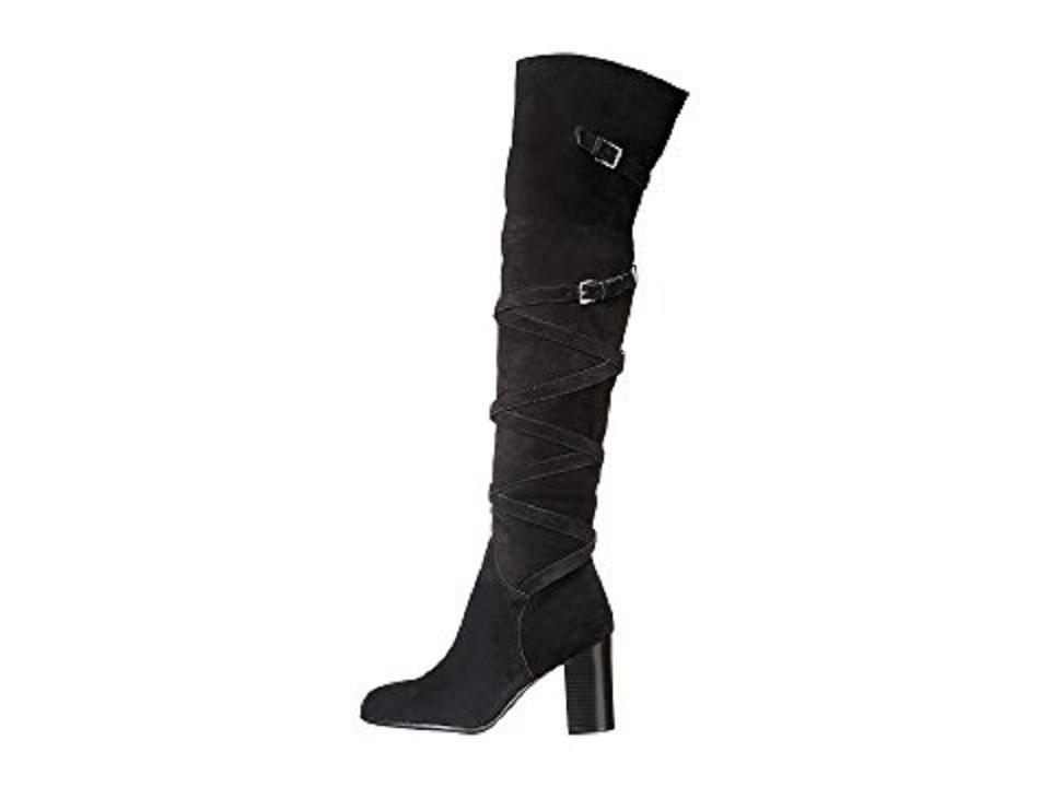 af53c0da162f Sam Edelman Suede Leather Wrap Over The Knee Black Boots Image 11.  123456789101112