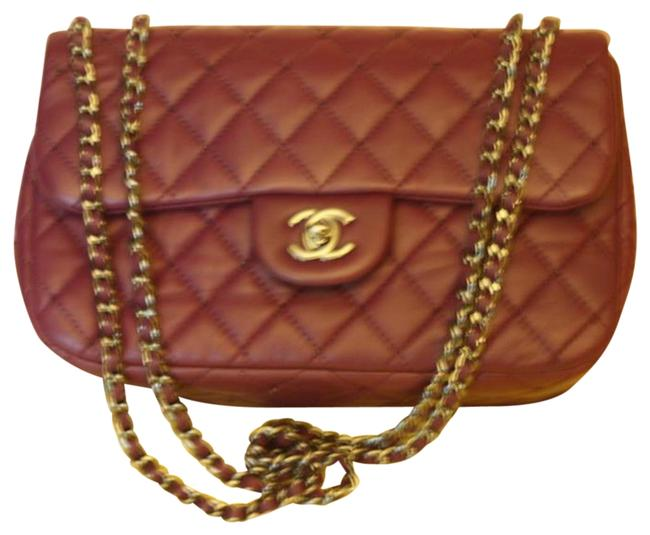 Item - 2.55 Reissue Classic Single Flap Cross Body Cc Logo 12a Small Medium Quilted Purple Lambskin Leather Shoulder Bag