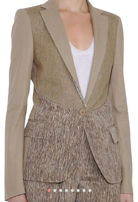 Preload https://img-static.tradesy.com/item/22049553/bottega-veneta-beige-cotton-and-silk-blazer-size-6-s-0-1-650-650.jpg