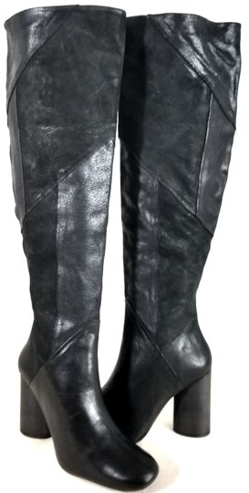 Free People Black Suede & Leather Boots Image 1