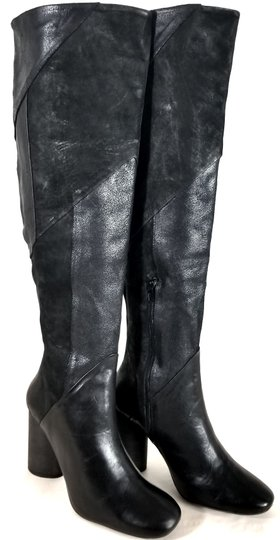 Free People Black Suede & Leather Boots Image 3
