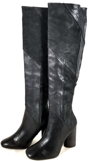 Free People Black Suede & Leather Boots Image 4