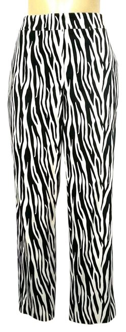 Item - Black Sport White Zebra Emma Dress Work Pants Size 10 (M, 31)