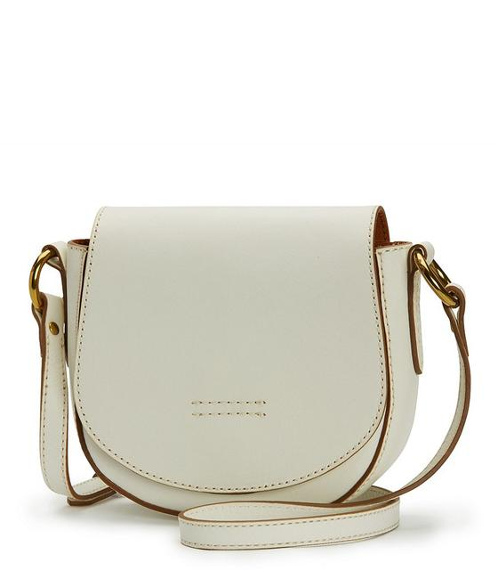 Item - Harness Small Saddle Off White Leather Cross Body Bag