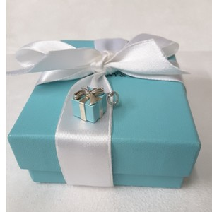 791e3157d5f8 Tiffany   Co. Tiffany   Co. Blue Enamel Gift Box Bow Tie Charm Pendant