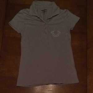 True Religion T Shirt Gray