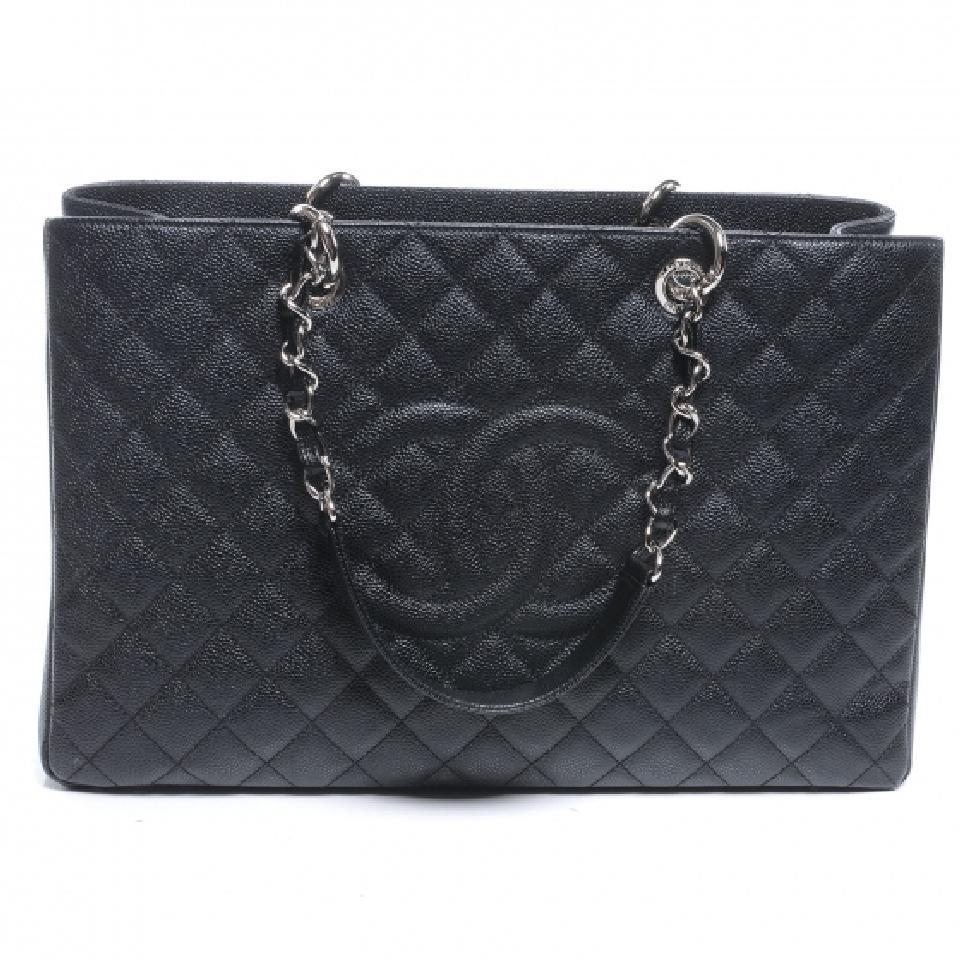 Chanel Gst Xl Jumbo Grand Ping Flap Tote In Black