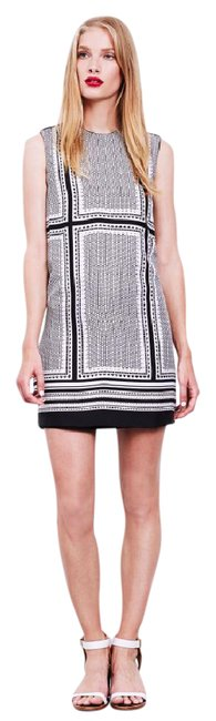Rachel Zoe short dress Black White Printed Silk Sleeveless on Tradesy Image 0