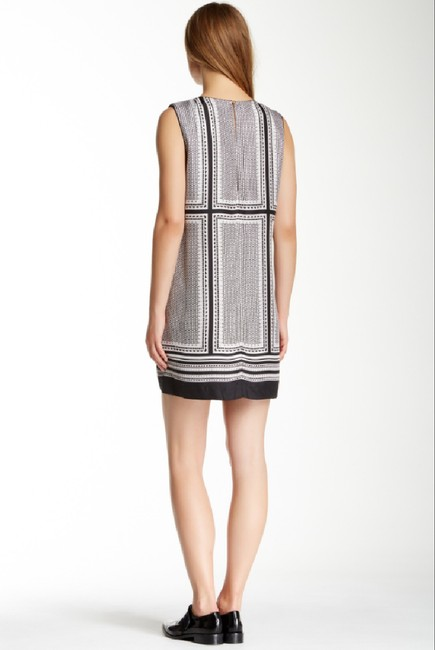 Rachel Zoe short dress Black White Printed Silk Sleeveless on Tradesy Image 2