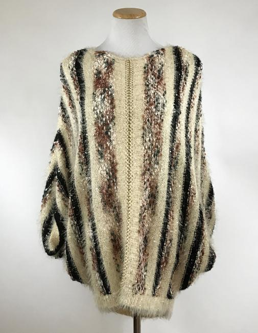 Item - Multi Color Fuzzy Chain and Sequin Embellished Sweater Tunic Size 12 (L)