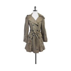Nanette Lepore Cotton Blend Trench Coat