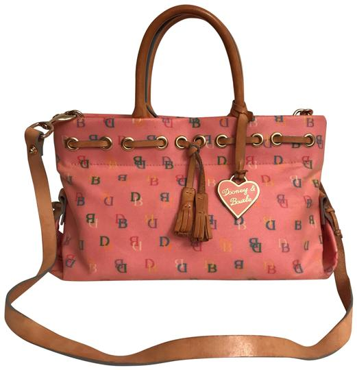 Preload https://img-static.tradesy.com/item/22050487/dooney-and-bourke-protected-signature-logo-pink-multi-coated-canvas-satchel-0-1-540-540.jpg