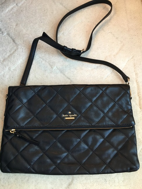Item - Emerson Place Carson Quilted Black Leather Cross Body Bag