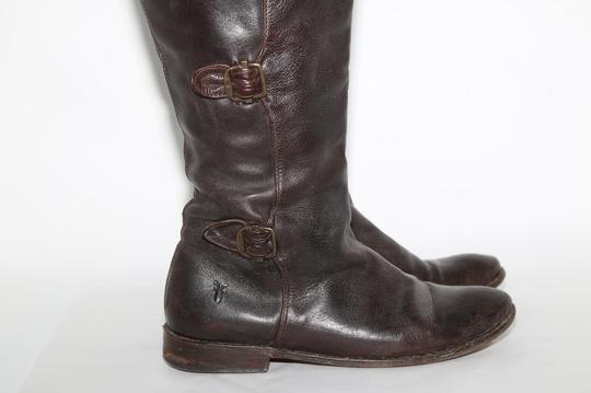 Frye Ridding Brown Boots Image 3