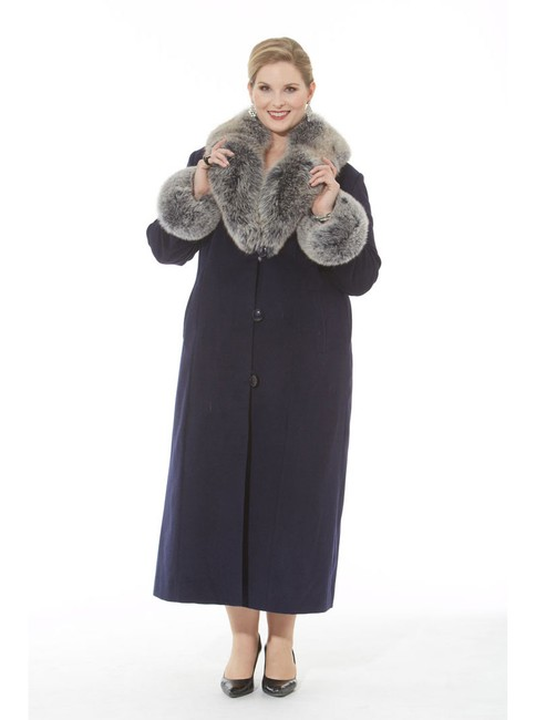 madisonavemall Cashmere Long Fur Collar Plus-size Coat Image 2