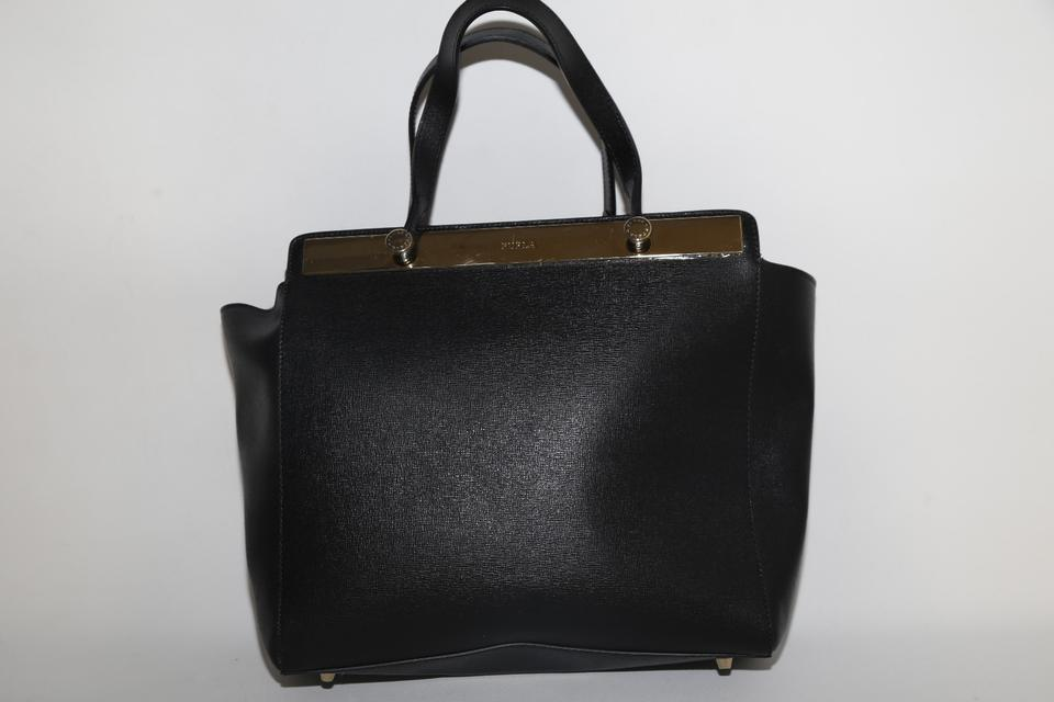 Black Leather Tote Tote Tote Black Leather Furla Leather Black Furla Furla Furla wStaP