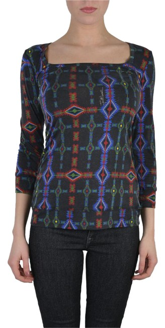 Preload https://img-static.tradesy.com/item/22050776/just-cavalli-multi-color-women-s-sleeve-scoop-neck-shirt-blouse-size-4-s-0-1-650-650.jpg