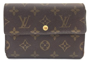 Louis Vuitton #13861 *Clearance* Large Long trifold Flap Wallet Pocket Bill Holder