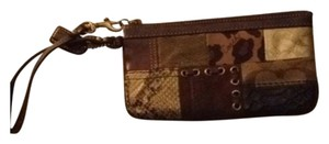 Coach Wristlet in Animal Print Patchwork