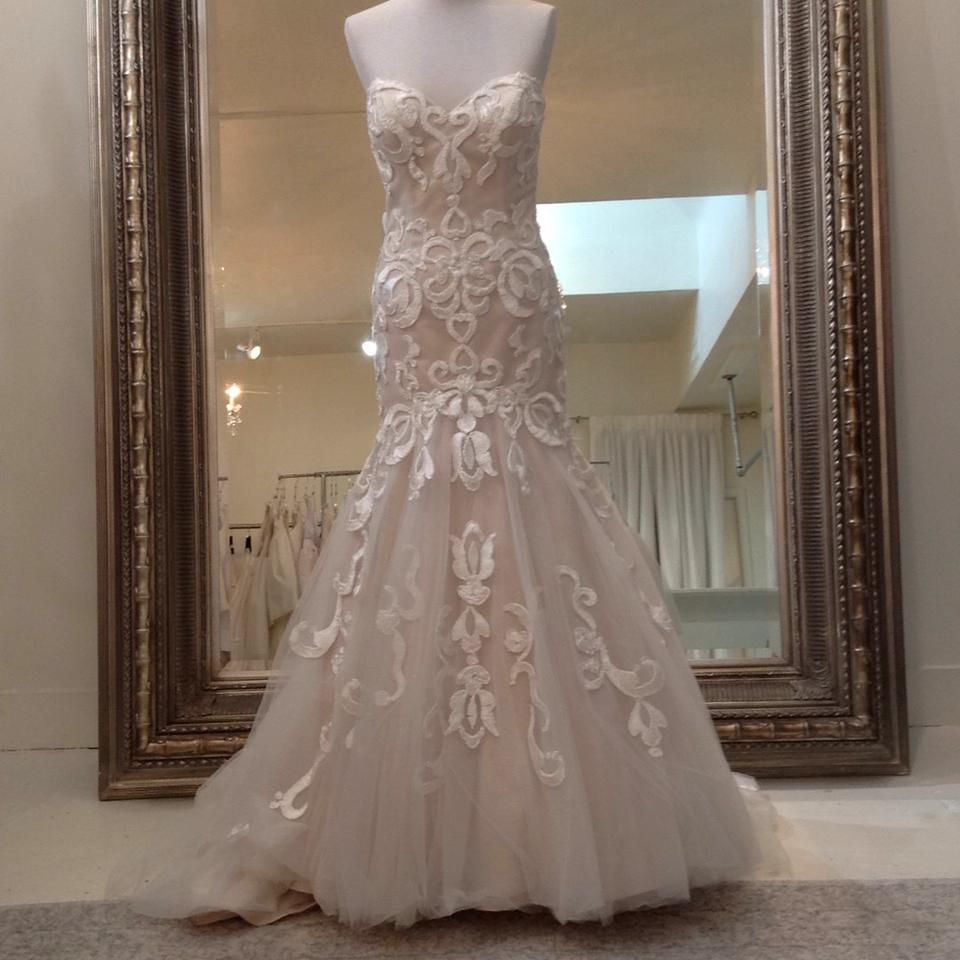 Fiore Couture Ivory/Taupe Jenny Modern Wedding Dress Size 8 (M ...