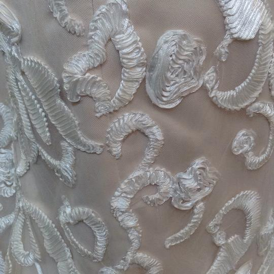 Fiore Couture Ivory/Taupe Jenny Modern Wedding Dress Size 8 (M) Image 6