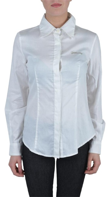 Preload https://img-static.tradesy.com/item/22050937/just-cavalli-white-women-s-embroidered-shirt-button-down-top-size-4-s-0-1-650-650.jpg