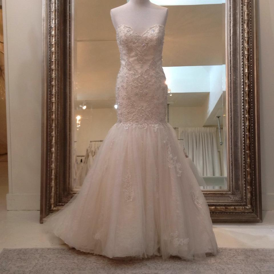 Fiore Couture Ivory/Baby Pink Lace/Tulle Nadine Traditional Wedding ...