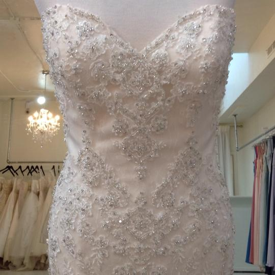 Fiore Couture Ivory/Baby Pink Lace/Tulle Nadine Traditional Wedding Dress Size 8 (M) Image 1