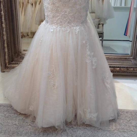 Fiore Couture Ivory/Baby Pink Lace/Tulle Nadine Traditional Wedding Dress Size 8 (M) Image 2
